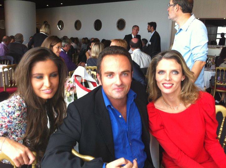 Malika Ménard et Sylvie Tellier au déjeuner Air France