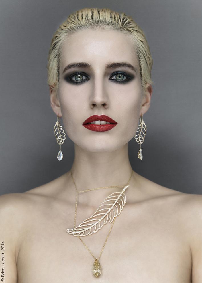 Géraldine Valluet PLUME D'ANGE Or jaune & Diamants 09