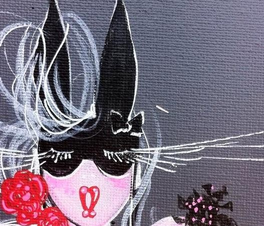 Exposition Rachel Bergeret – la midinette – bas les masques – vernissage – artiste – Montmartre – Paris Frivole