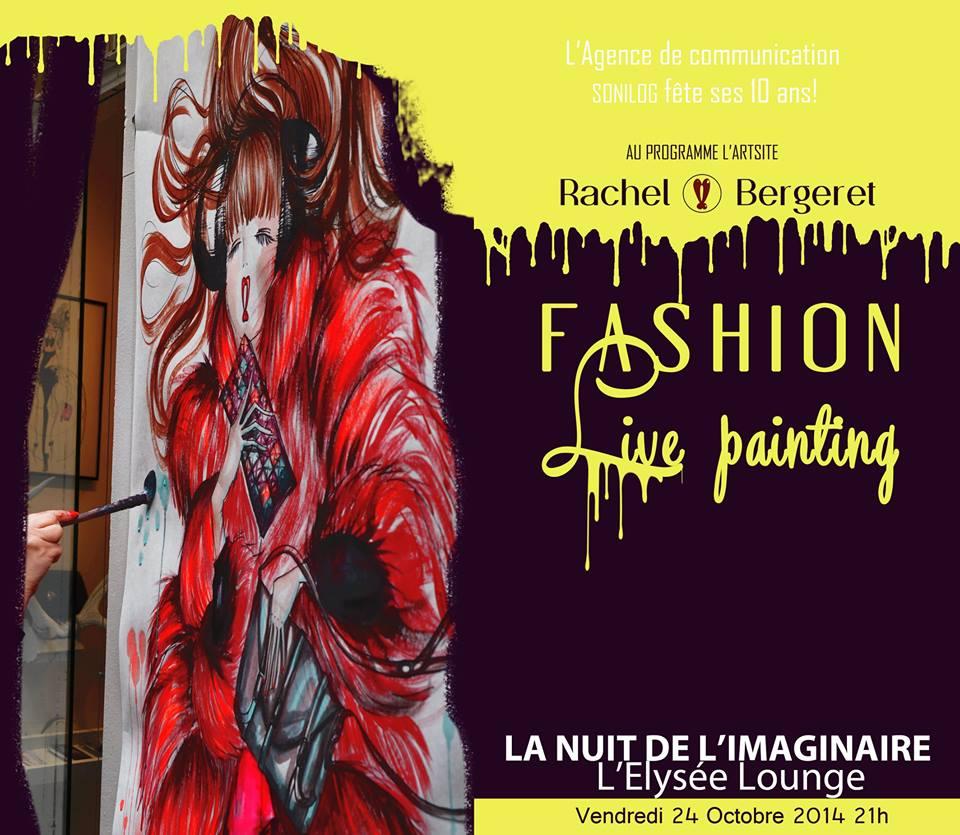 rachel bergeret live painting - paris frivole