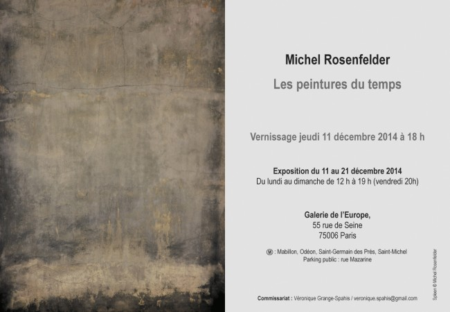 Michel Rosenfelder – Vernissage exposition – Galerie de l'Europe