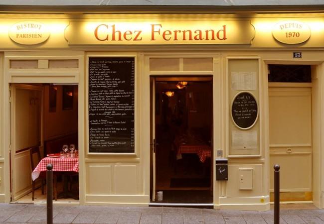 Chez Fernand – bistronomie – cuisine française – Saint Germain des Prés