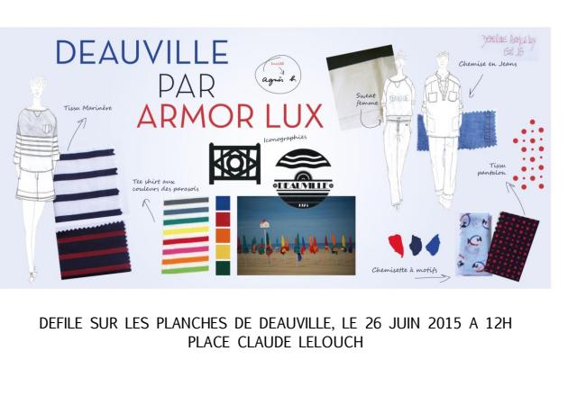 Armor Lux – défilé à Deauville le 26 juin – Agnès B