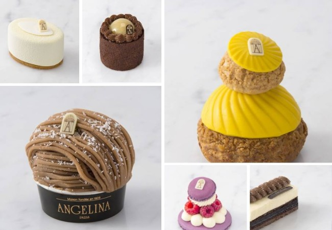 Angelina – carte gourmande – desserts – Mont Blanc