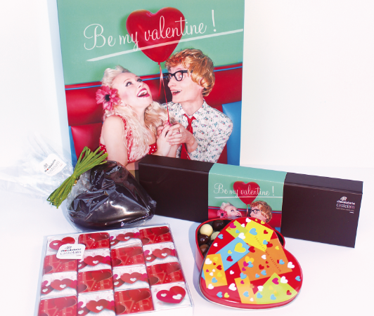 Chocolats Castelain – box – be my Valentine – idée cadeau gourmande