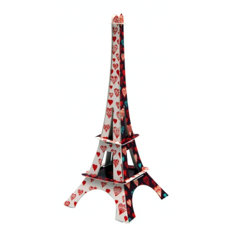 La Tour Eiffel Coeurs - La Plume de Louise