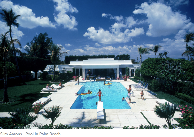 SLIM AARONS SWIMMING POOL