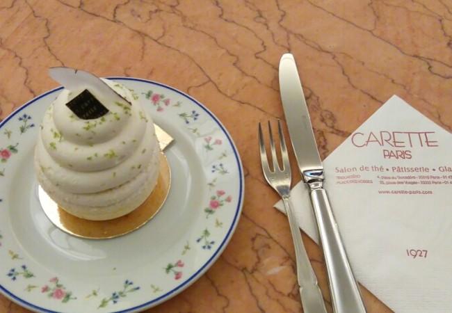 Salon de thé Carette – pâtisseries – nouvelle création sans gluten – tea time