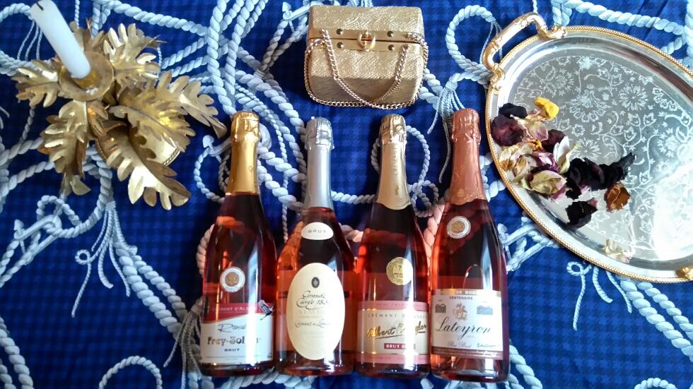 Crémants rosé - oenologie - vin et gastronomie