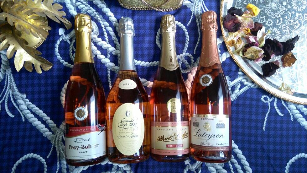 Crémants rosé - vin - apéro