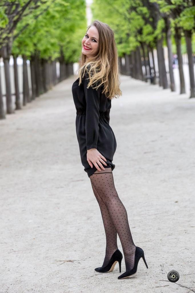 Sarah Paris Frivole - Chantal Thomass - LA PARISIENNE - bas et collants - plumetis