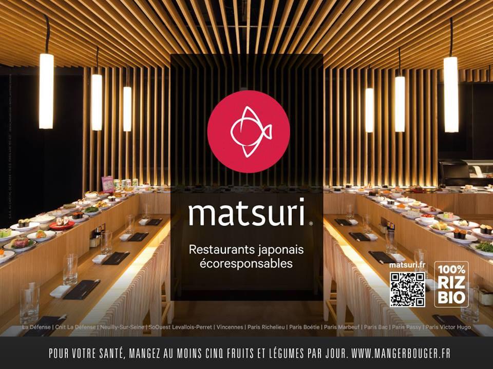 Matsuri - restaurant japonais à Paris - comptoir tournant