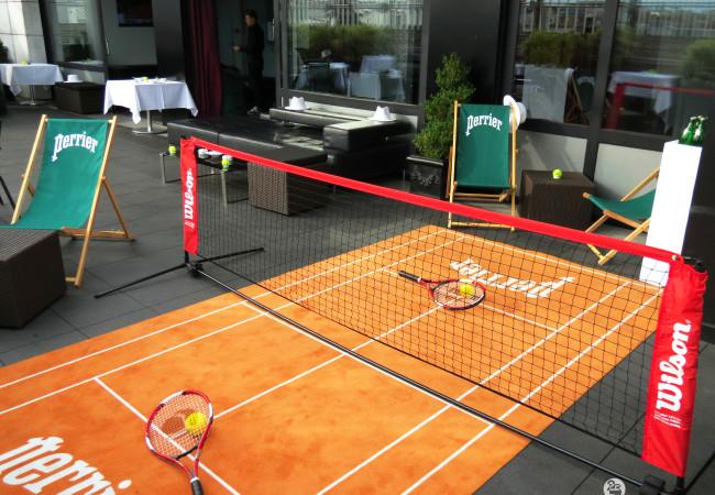 Terrasse éphémère – Perrier et Roland Garros – Maison Blanche