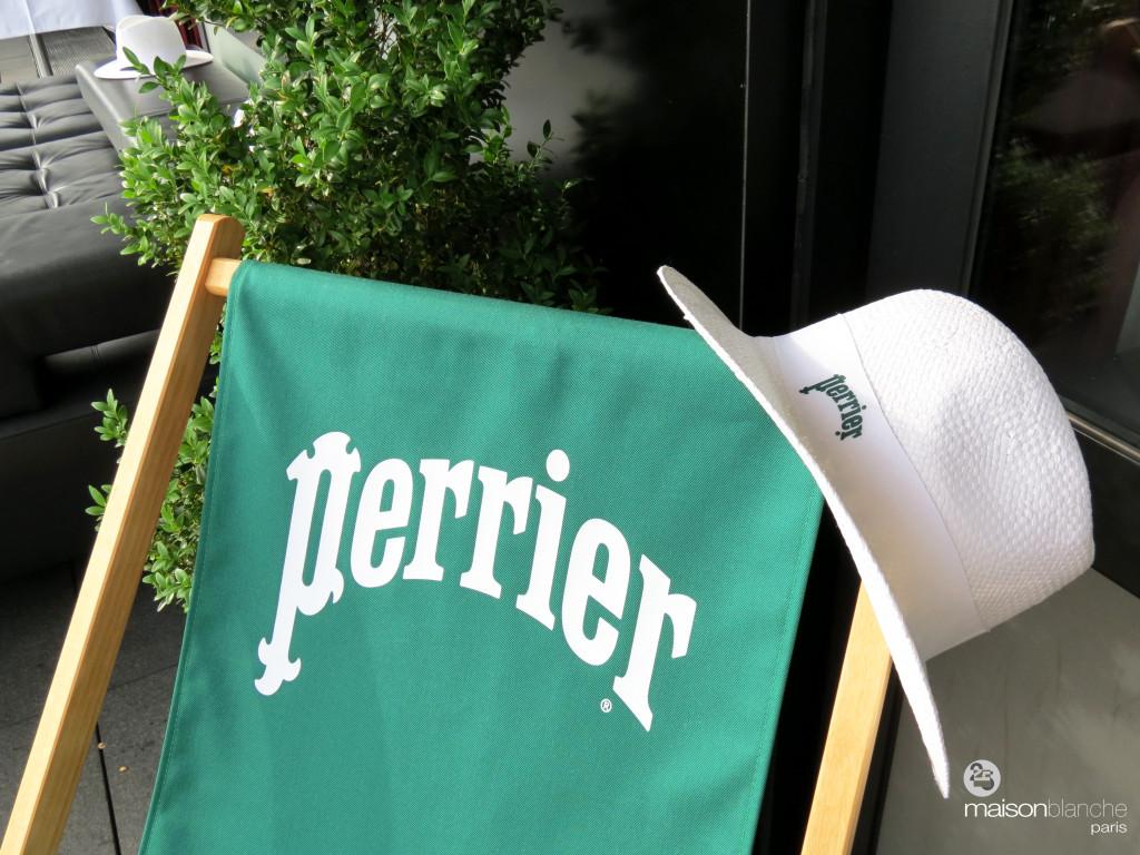 Perrier - maison blanche - tennis roland garros