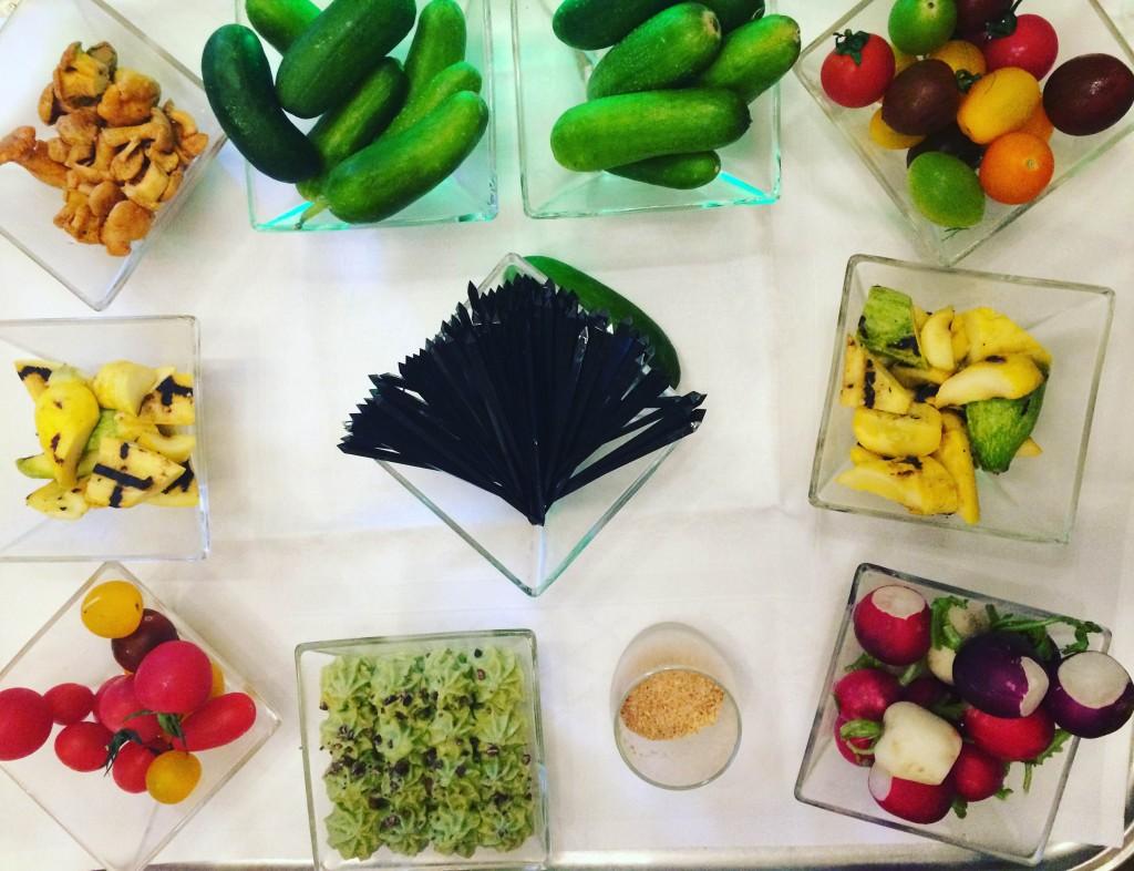Détox végétale - buffet veggie - La Coupole Paris