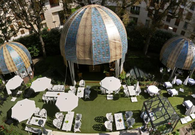 Terrasse Guinguette Chic – hôtel Saint James Paris – garden party