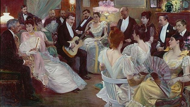 Pierre-Georges Jeanniot - Une chanson de Gibert dans le salon de madame Madeleine Lemaire