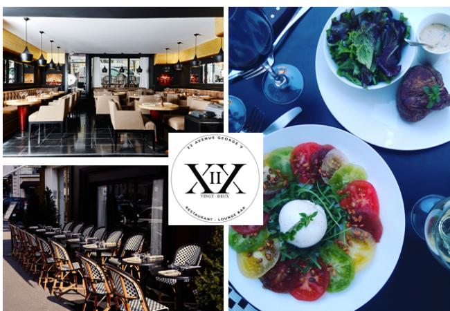 Vingt Deux – restaurant lounge – Avenue Georges V – bistronomie chic