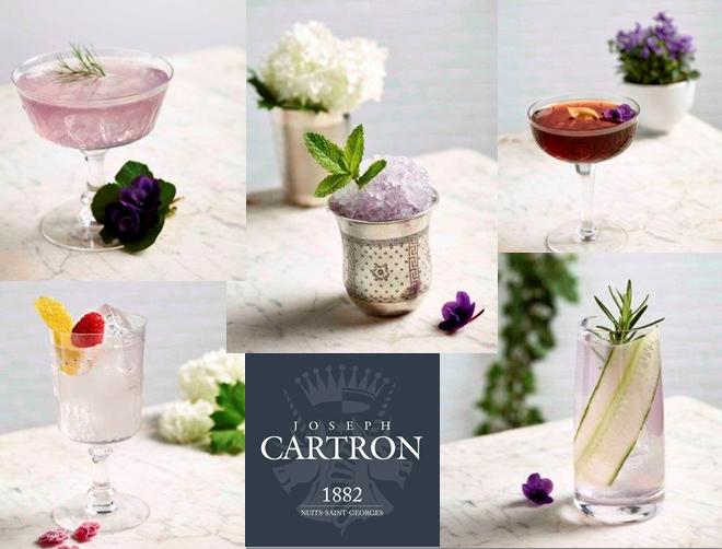 Liqueur de violette - cocktails créatif - Joseph Cartron