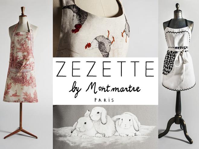 Zezette by Montmartre - tablier - Zélia sur la terre comme au ciel