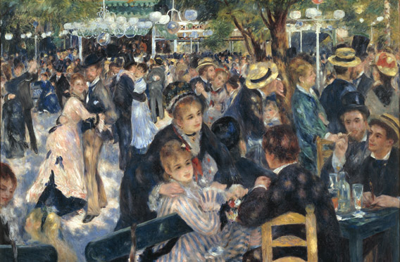 Bal du Moulin de la Galette 1876 Pierre-Auguste Renoir