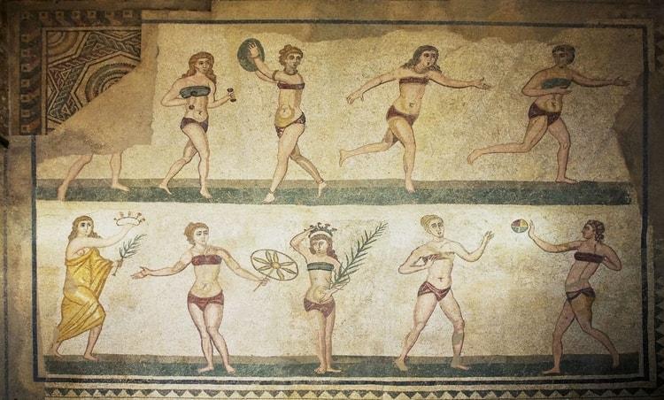 le bikini dans l'antiquité