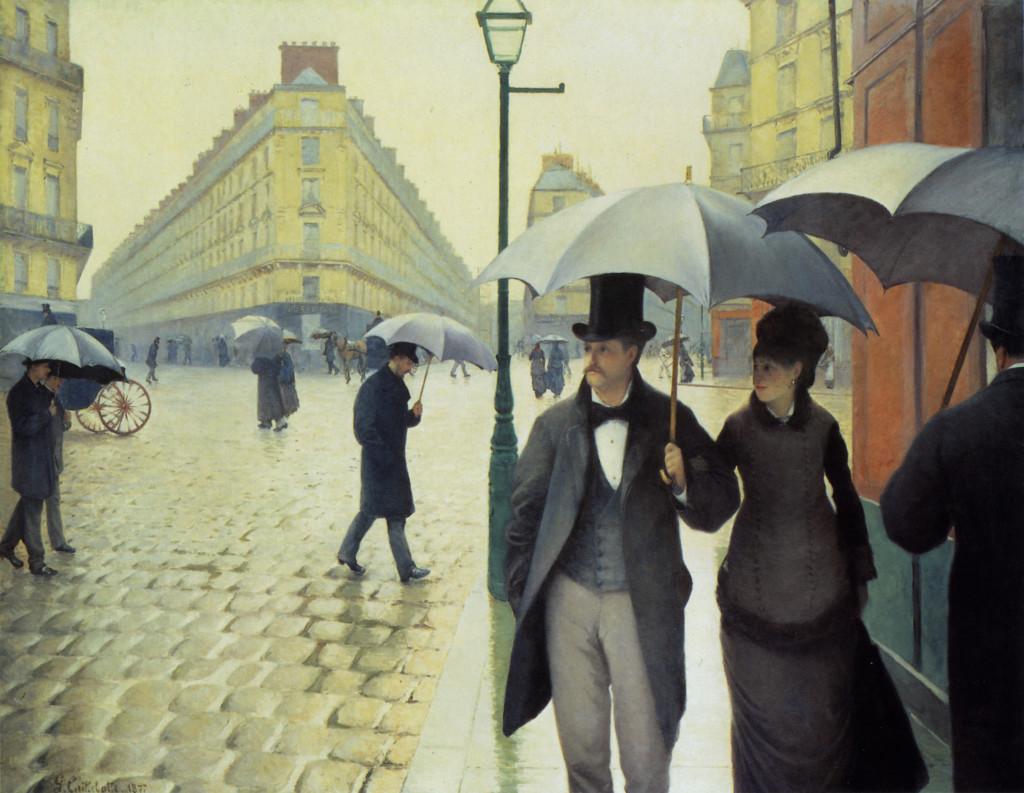 Rue de Paris, temps de pluie par Gustave Caillebotte en 1877