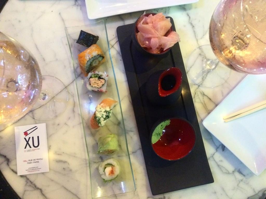cuisine japonaise rue de rivoli - le XU