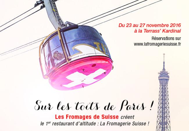 Une fondue sur les toits de Paris – Fromagerie Suisse – resto éphémère
