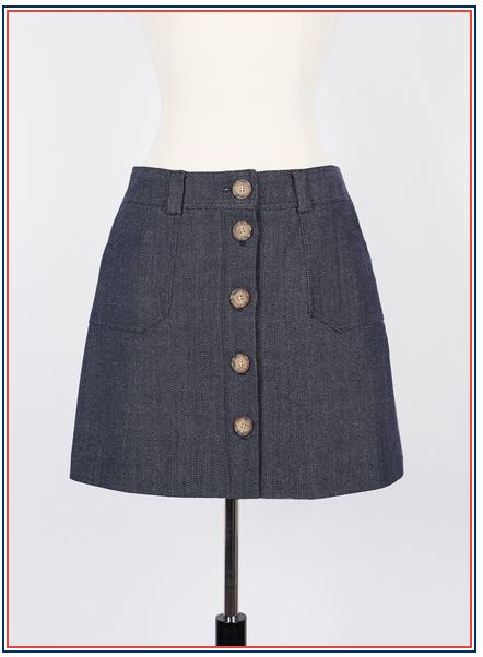 jupe en jean Inès de la Fressange - Mado mini skirt in denim