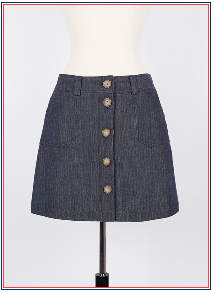 jupe en jean Inès de la Fressange - Mado mini skirt in denim