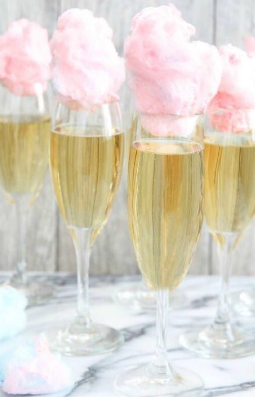 0. Cocktail champagne et barbe à papa
