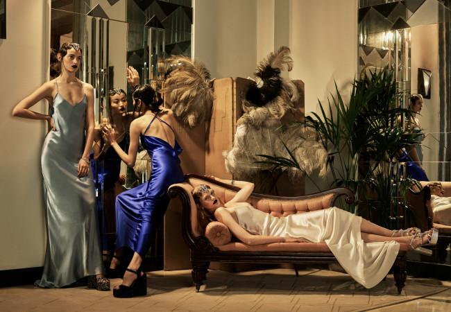 Olivia Von Halle – homewear chic – Printemps Paris Haussmann
