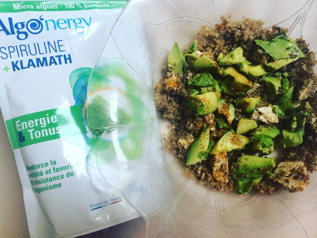 salade de quinoa et spiruline - paris frivole