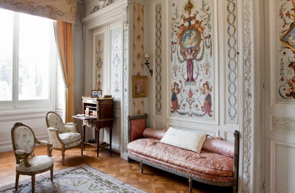 boudoir marie antoinette - villa ephrussi de rotschild