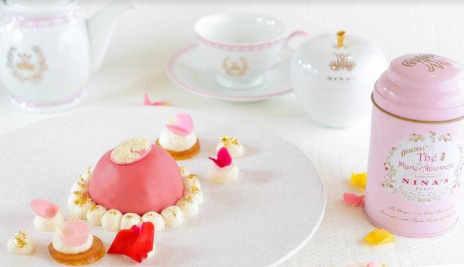 nina - Marie Antoinette - tea time parisien - paris frivole - pâtisserie