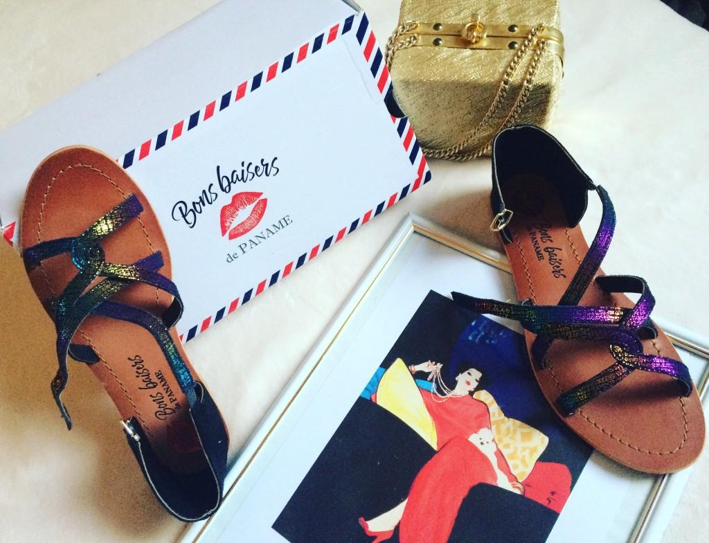 Bons baisers de paname - sandales en cuir - paris frivole