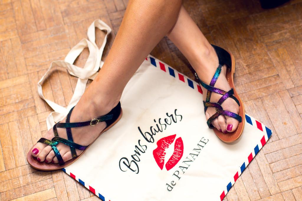 Bons baisers de paname - sandales parisienne - paris frivole
