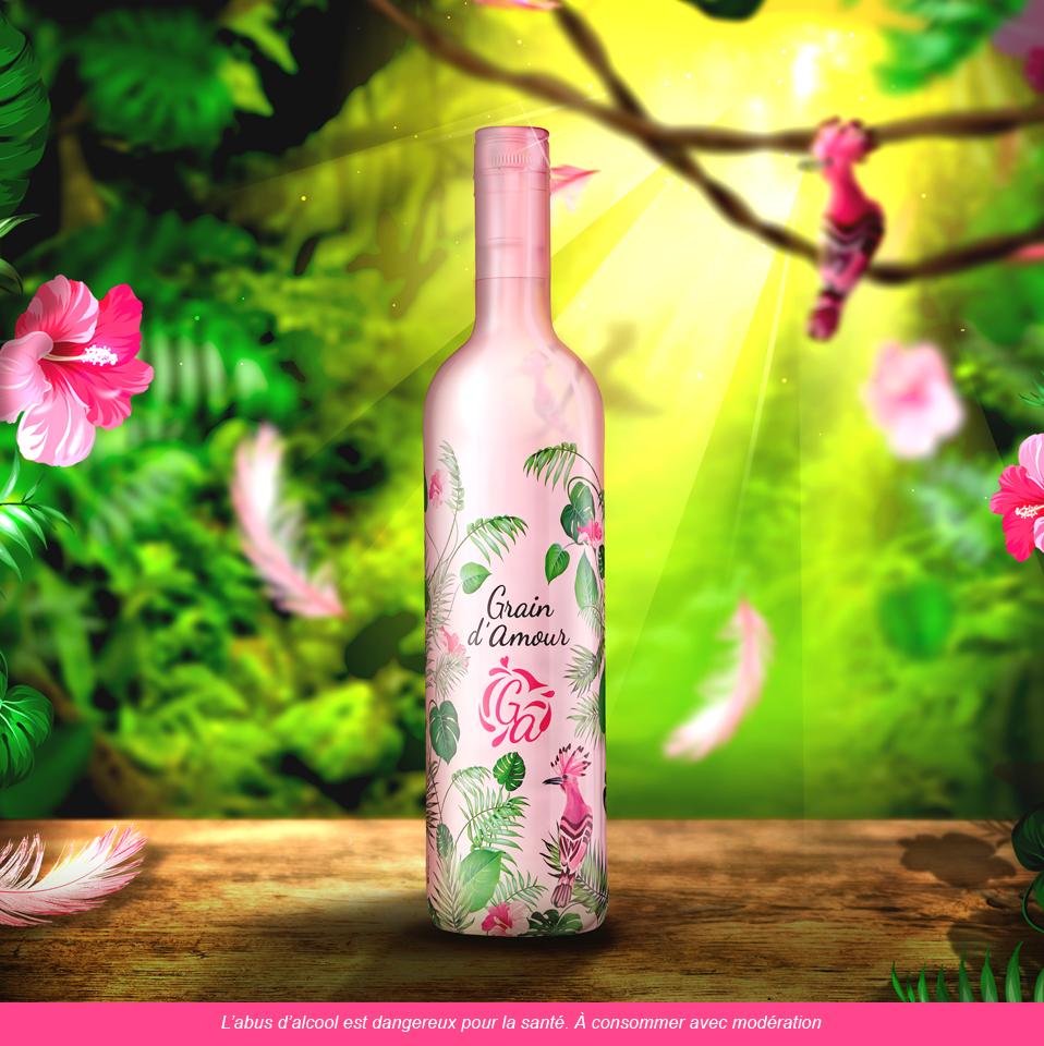 Grain d'amour - vin rosé - paris frivole