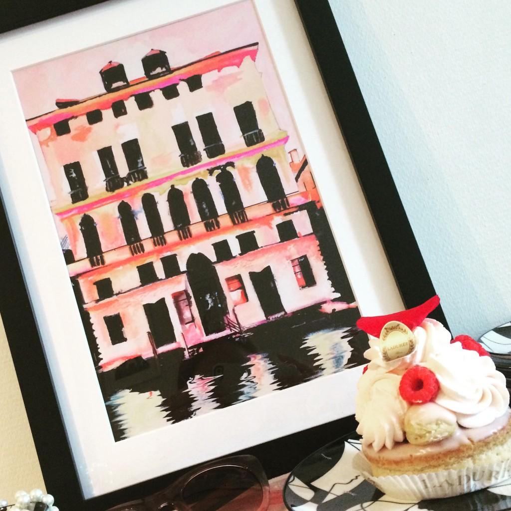 Prada Palazzo - Ladurée - Leigh Viner - JUNIQE - blog parisien - paris frivole