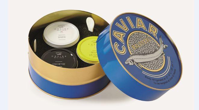 Coffret caviar au Monoprix