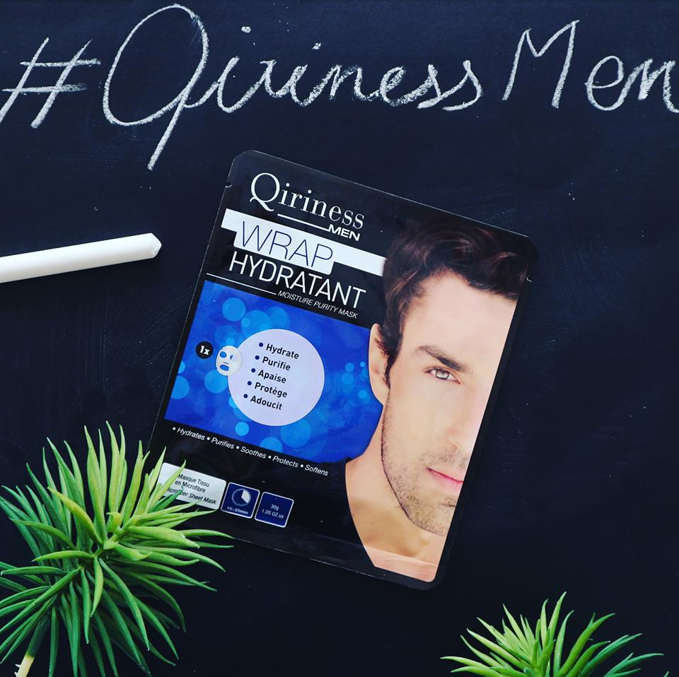 Qiriness - wrap hydratant - masque visage homme