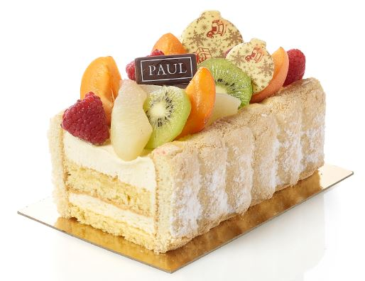 Bûche de Noel paul aux fruits