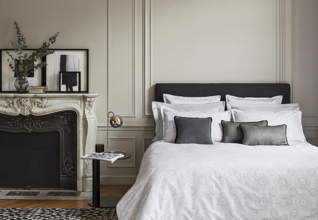 Descamps – parures de lit chics – décoration – savoir faire français