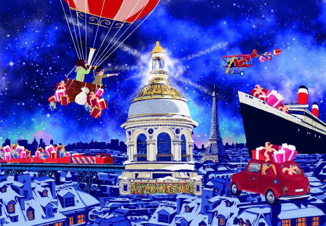 Printemps Haussmann – vitrines de Noël – FENDI – sélection shopping