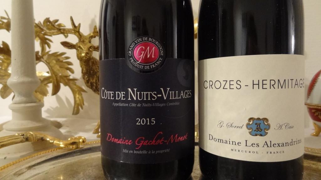 Des vins rouges d'exception  - Côte de Nuits-Villages et Crozes-Hermitage