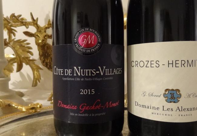 Des vins rouges d'exception  – Côte de Nuits-Villages et Crozes-Hermitage