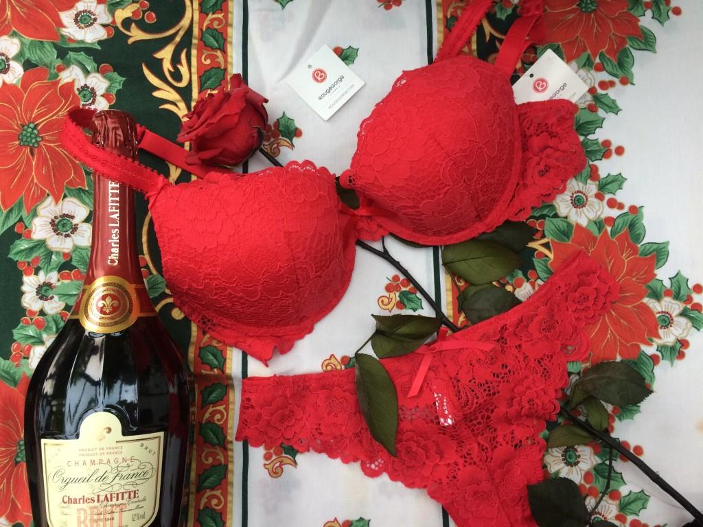 Rouge Gorge Lingerie - dessous chics - parure rouge