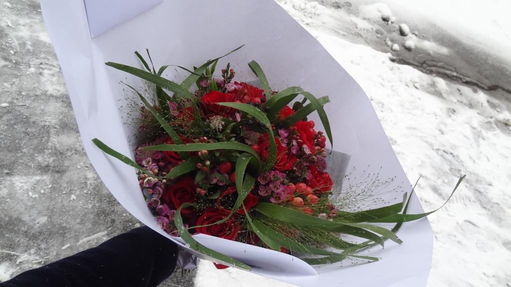 Interflora - un bouquet de fleurs pour la Saint Valentin - livraison