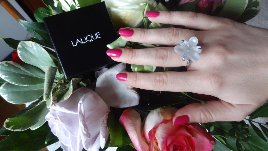 Bague Lalique - bijou d'exception en cristal - Fleur de neige